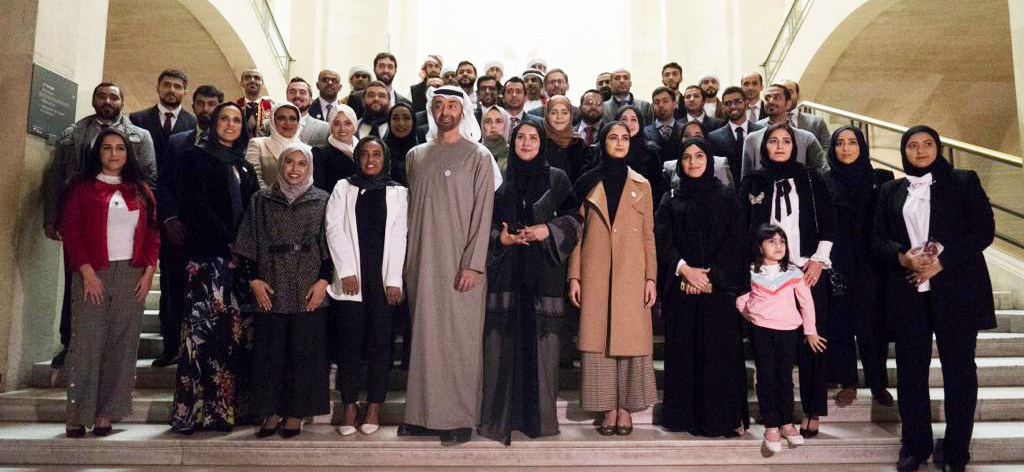 HH Sheikh Mohamed visit to French universities